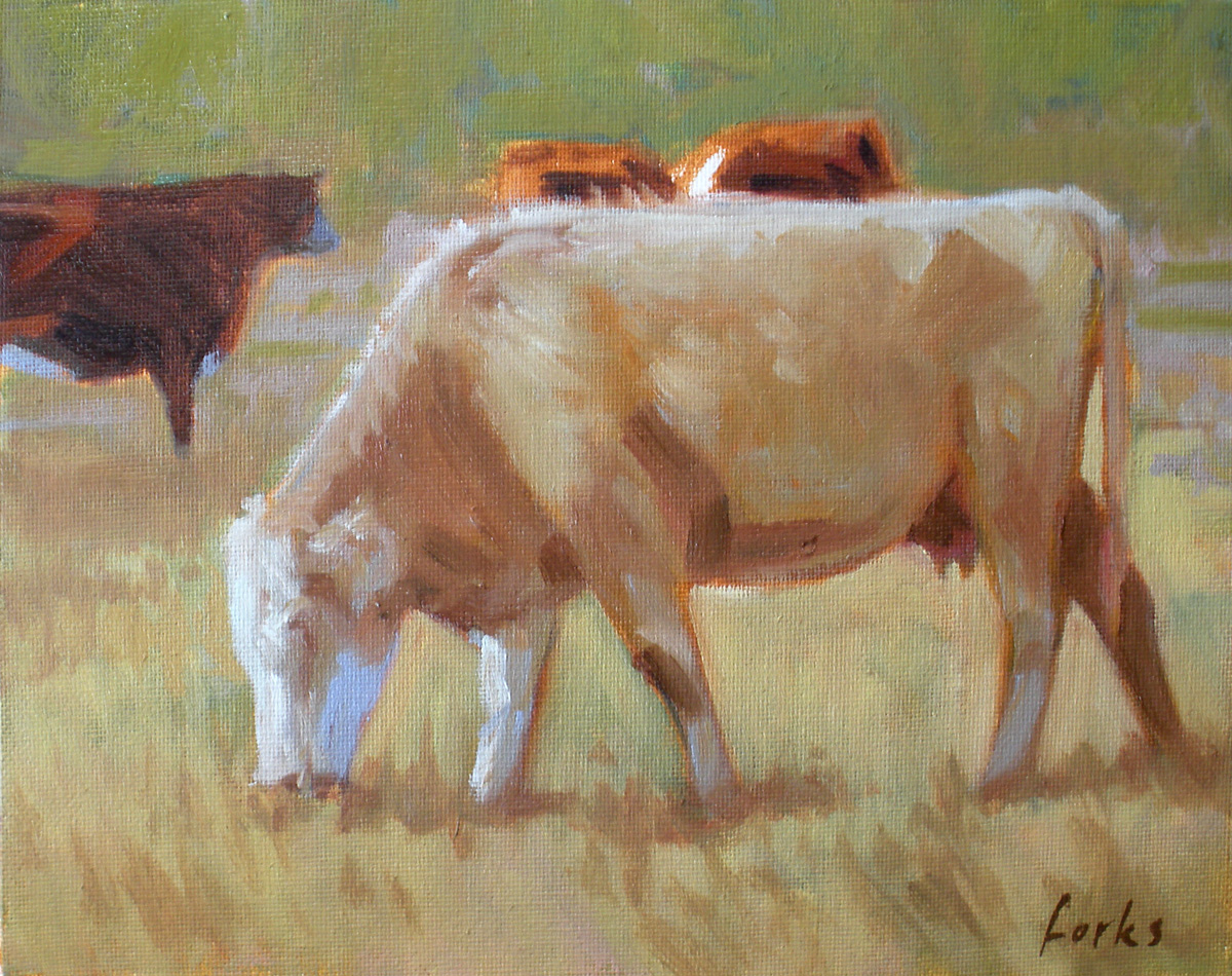 """""""South Texas Cattle"""" original fine art by David Forks"""
