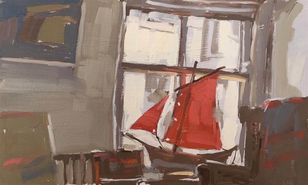 """East view interior"" original fine art by Haidee-Jo Summers ROI"