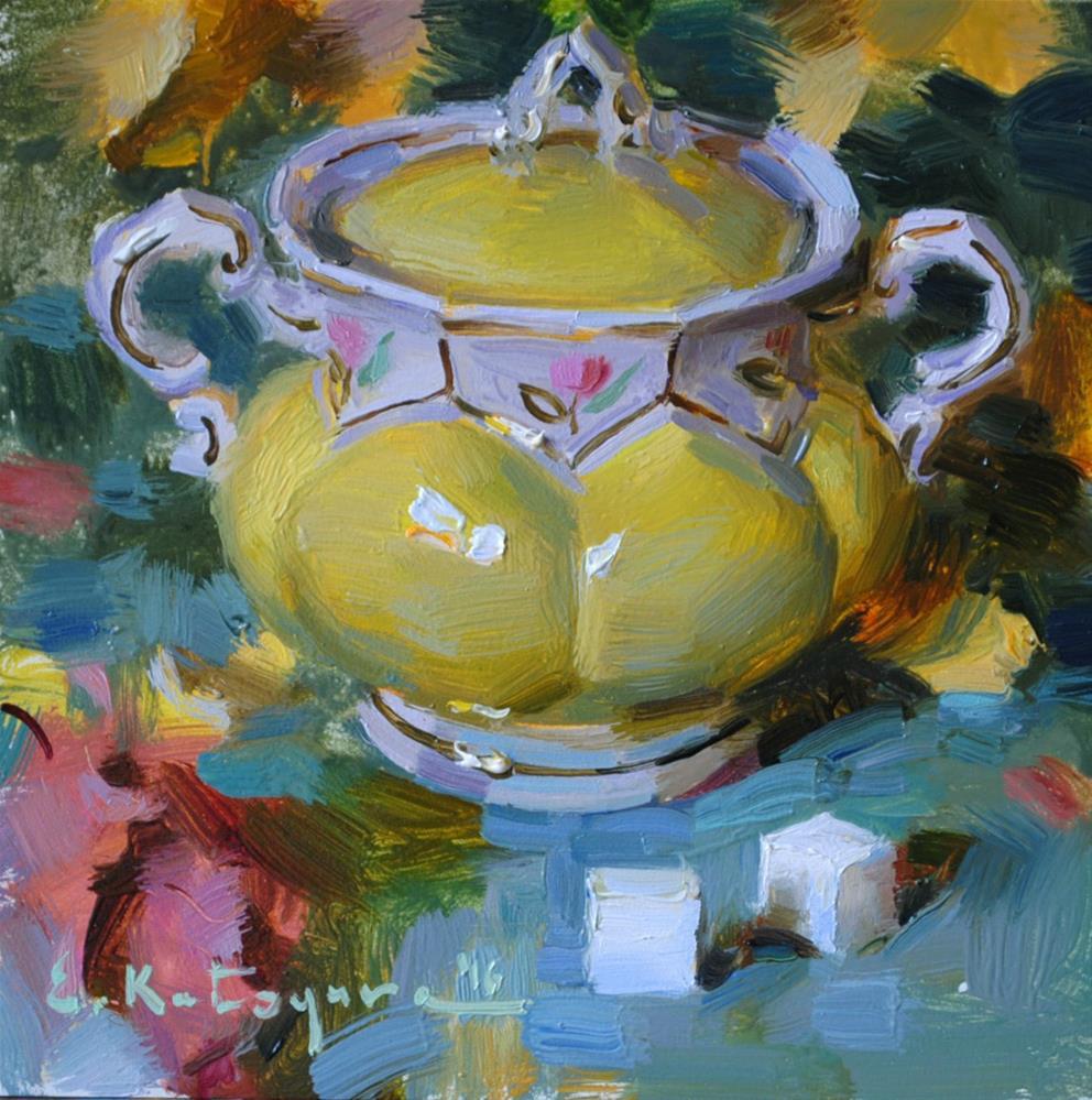 """Yellow Sugar Bowl"" original fine art by Elena Katsyura"