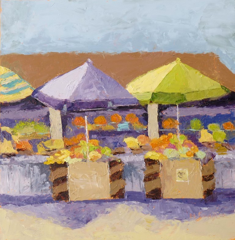 """Ventura Fruit Stand 14082"" original fine art by Nancy Standlee"