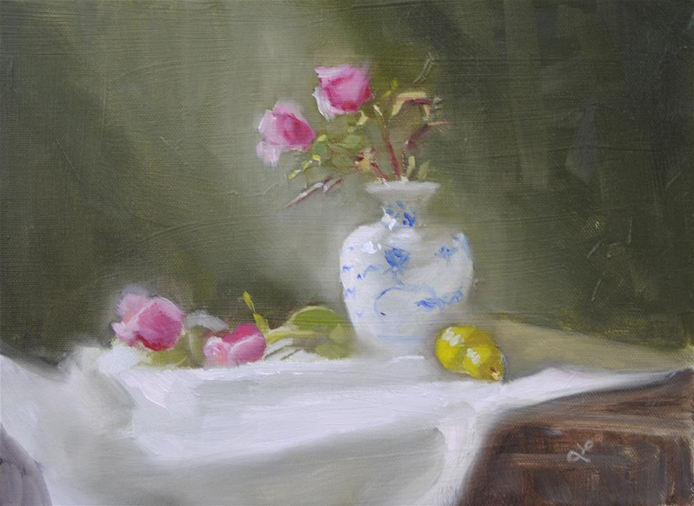 """My Roses"" original fine art by Lori Jacobs - Farist"