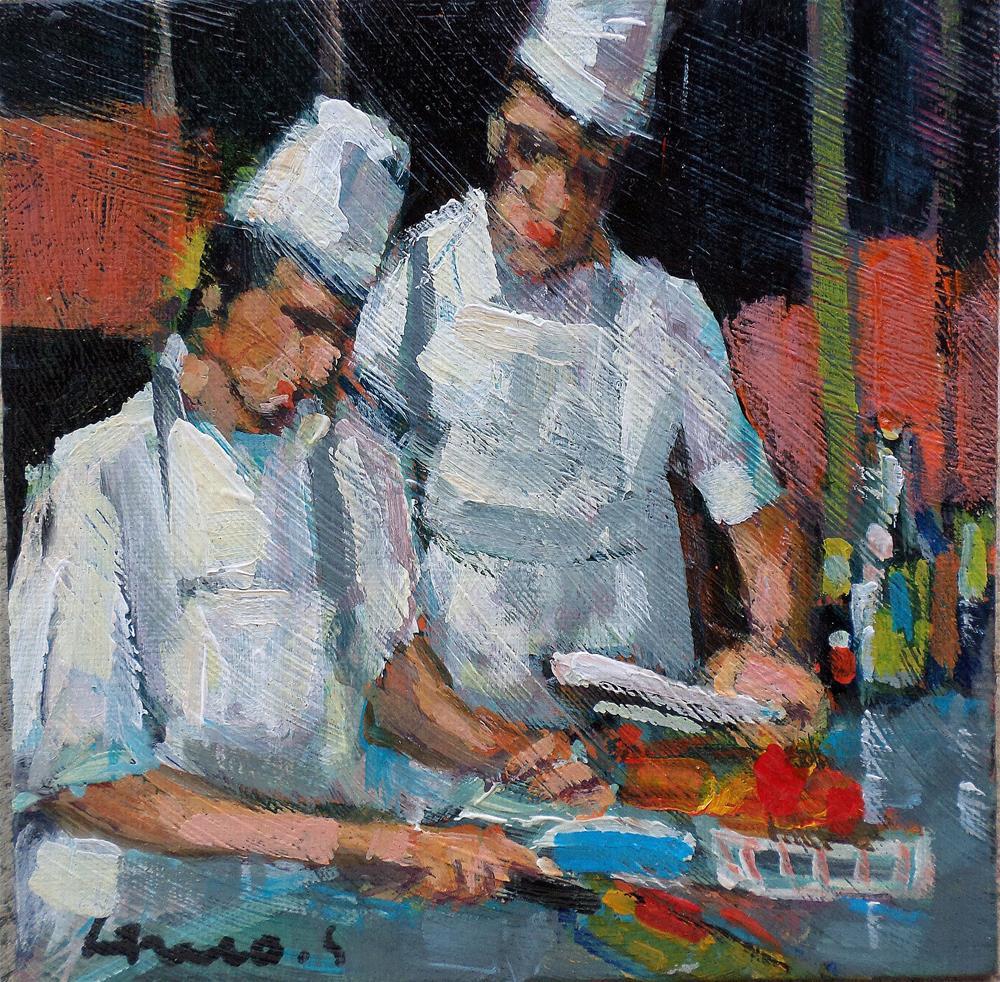 """The cookers"" original fine art by salvatore greco"