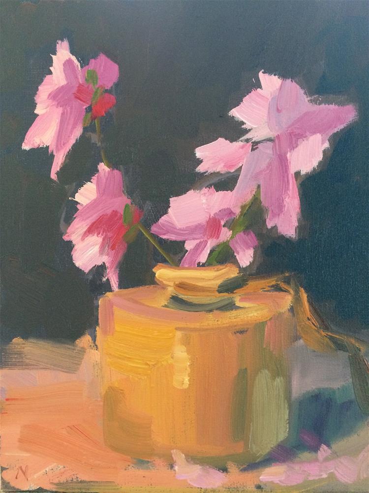 """Peach Flowers"" original fine art by Naomi Bautista"
