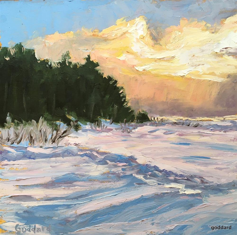 """Winter Edges"" original fine art by Shari Goddard Shambaugh"