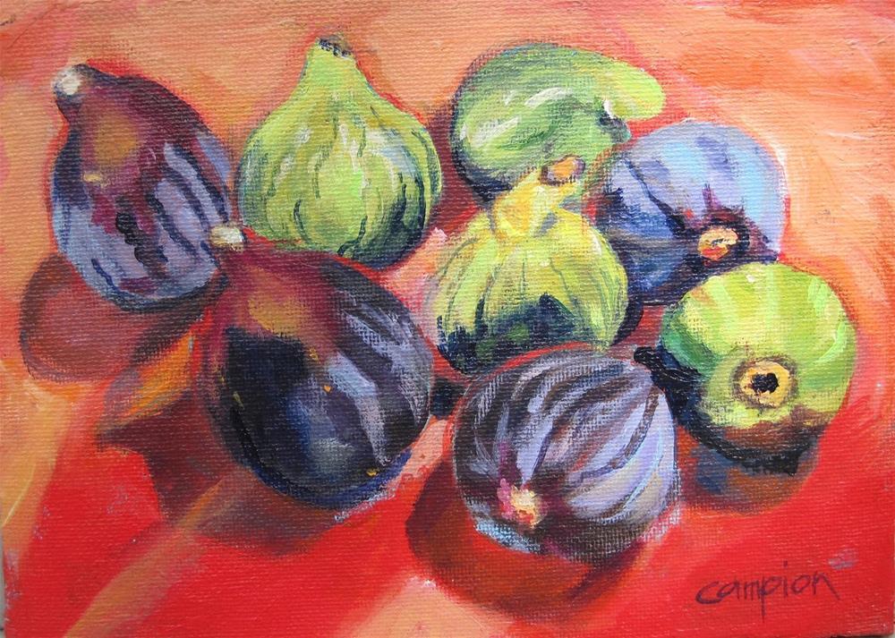 """""""Beltane Ranch Figs"""" original fine art by Diane Campion"""