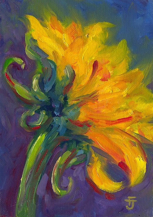 """Sunflower 15"" original fine art by Francine Dufour~Jones"