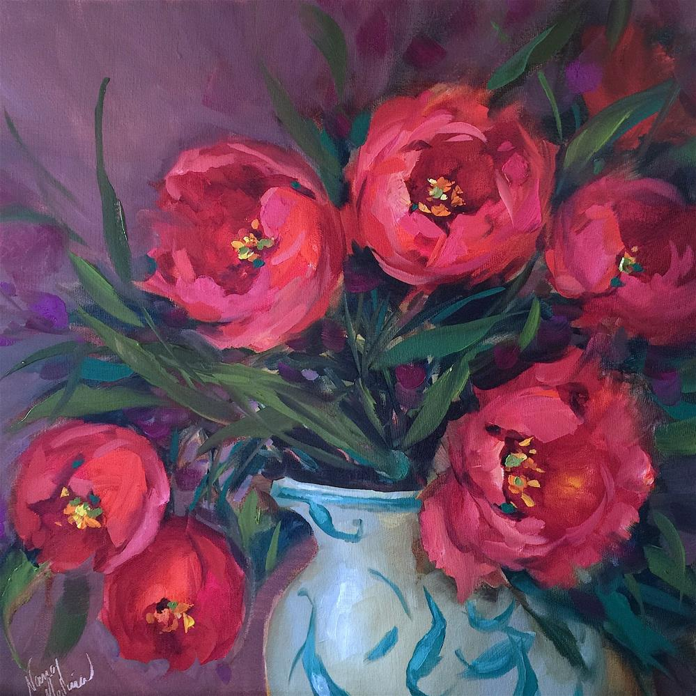 """Red Velvet Tulips - Nancy Medina Art Videos and Classes"" original fine art by Nancy Medina"
