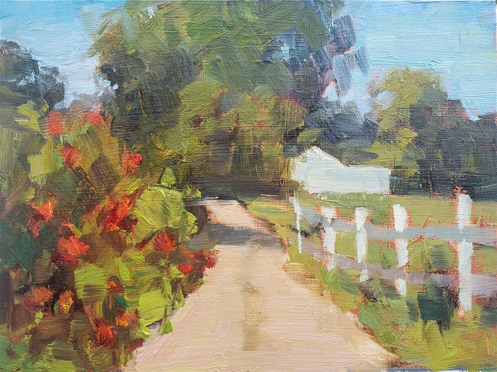 """""""Country Road"""" original fine art by Barbie Smith"""