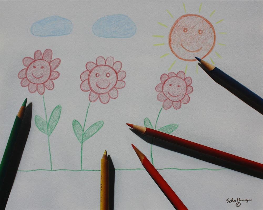 """Summer Coloring"" original fine art by Fred Schollmeyer"