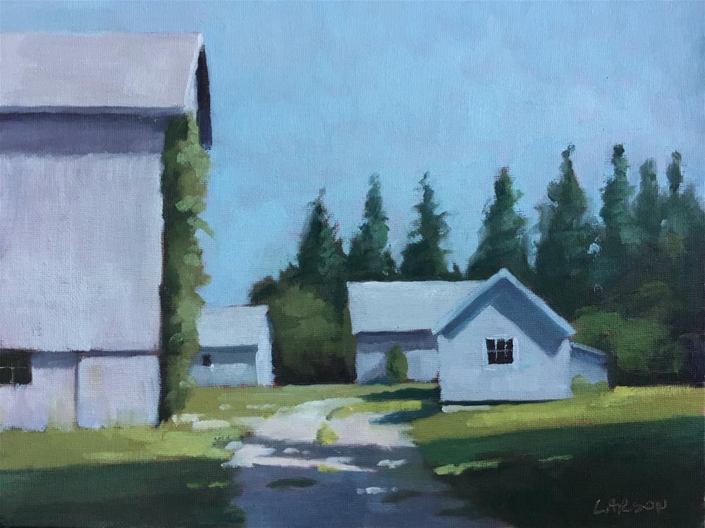 """Barn Yard"" original fine art by Eric Larson"