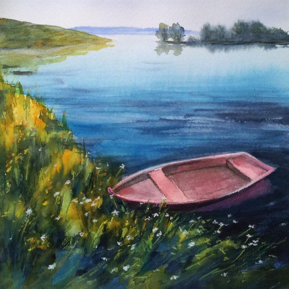 """DCS # 21 At the river bank"" original fine art by Olga Touboltseva-Lefort"