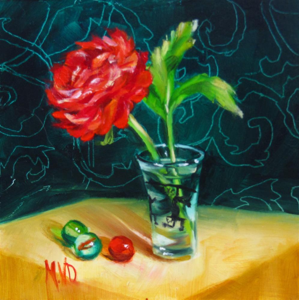 """""""Bottoms Up Buttercup"""" original fine art by Mary Van Deman"""