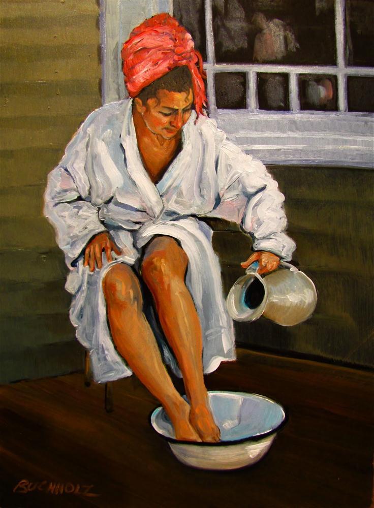"""The Red Turban"" original fine art by Terri Buchholz"