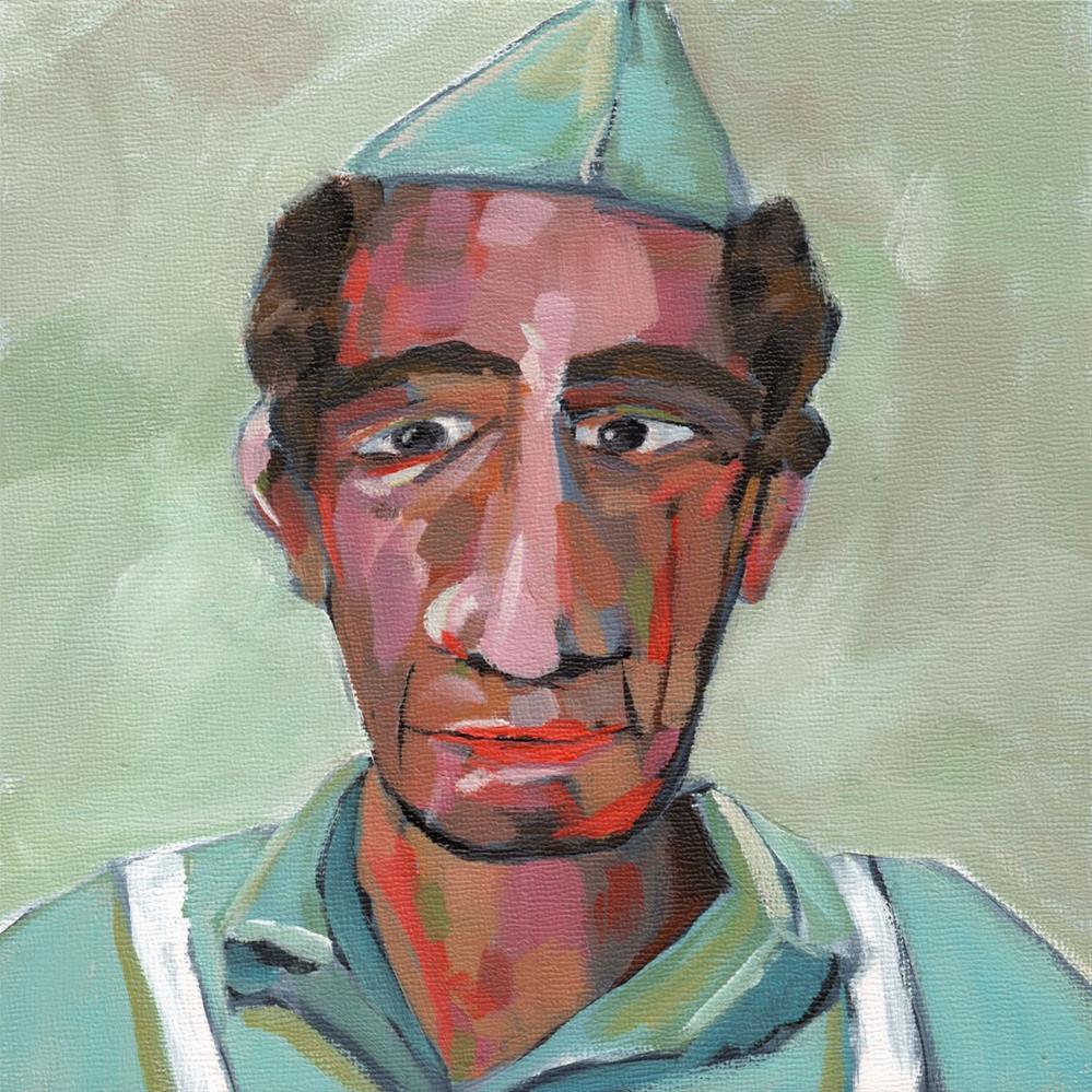 """""""0427: Bernie"""" original fine art by Brian Miller"""