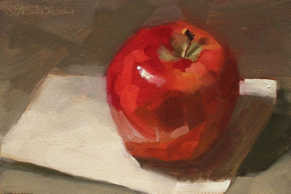 """Apple"" original fine art by Karen Werner"
