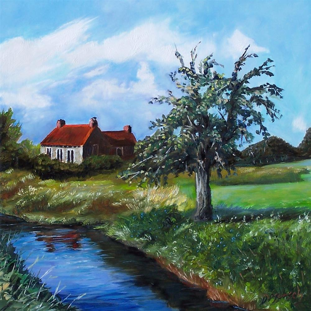 """Country Cottage"" original fine art by Donna Munsch"