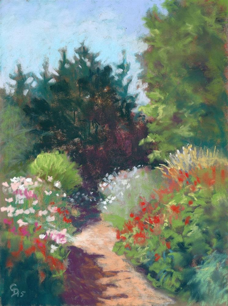 """""""Summer Garden"""" original fine art by Christine Derrick"""