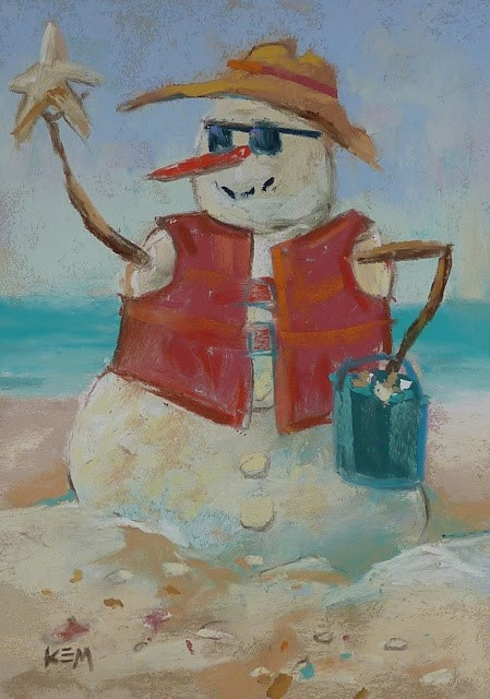 """Holiday Greetings from the Caribbean"" original fine art by Karen Margulis"