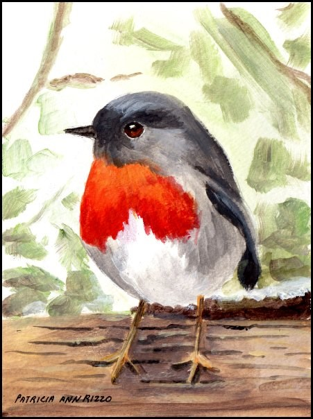 """Sweet Little Bird"" original fine art by Patricia Ann Rizzo"
