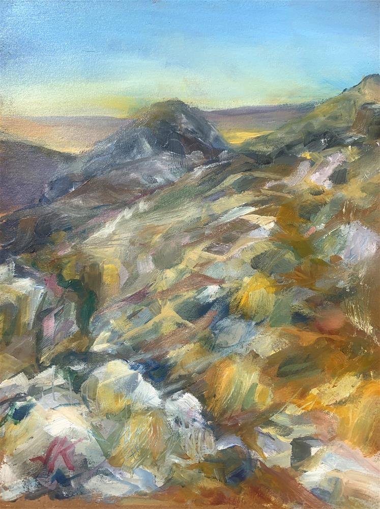 """Below the Ridge, Valley of the Sun"" original fine art by Jean Krueger"