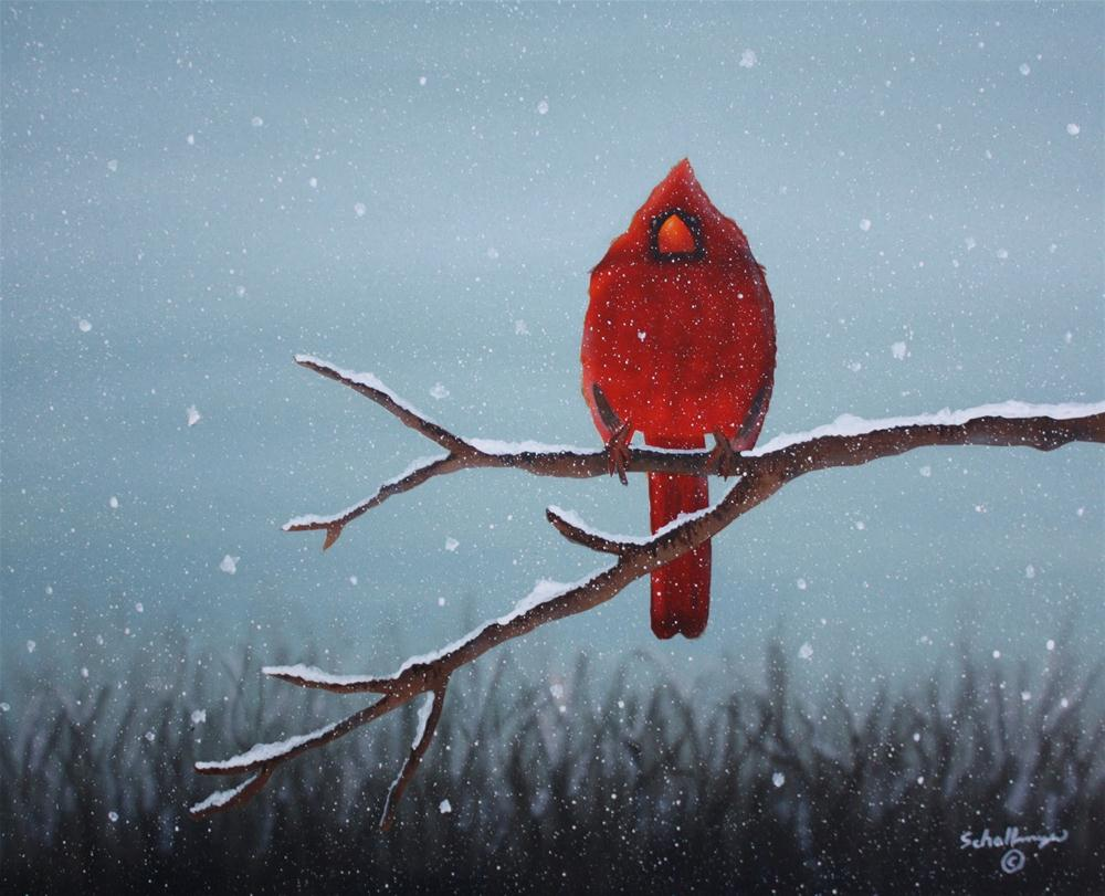 """Snowy Sentinel"" original fine art by Fred Schollmeyer"