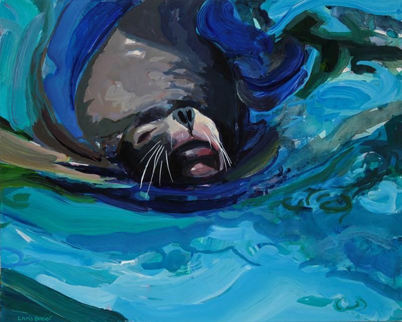 """""""Sea Lion"""" original fine art by Chris Breier"""