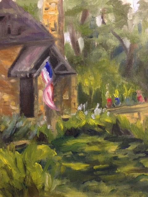 """""""Summer Porch"""" original fine art by Marjie Laizure"""