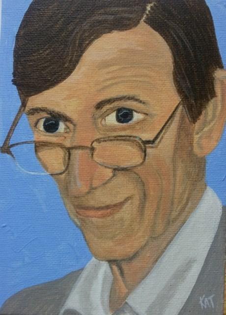 """Stan"" original fine art by Kathleen Carrier"
