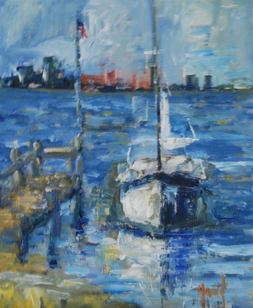 """Safe Harbor"" original fine art by Deborah Harold"