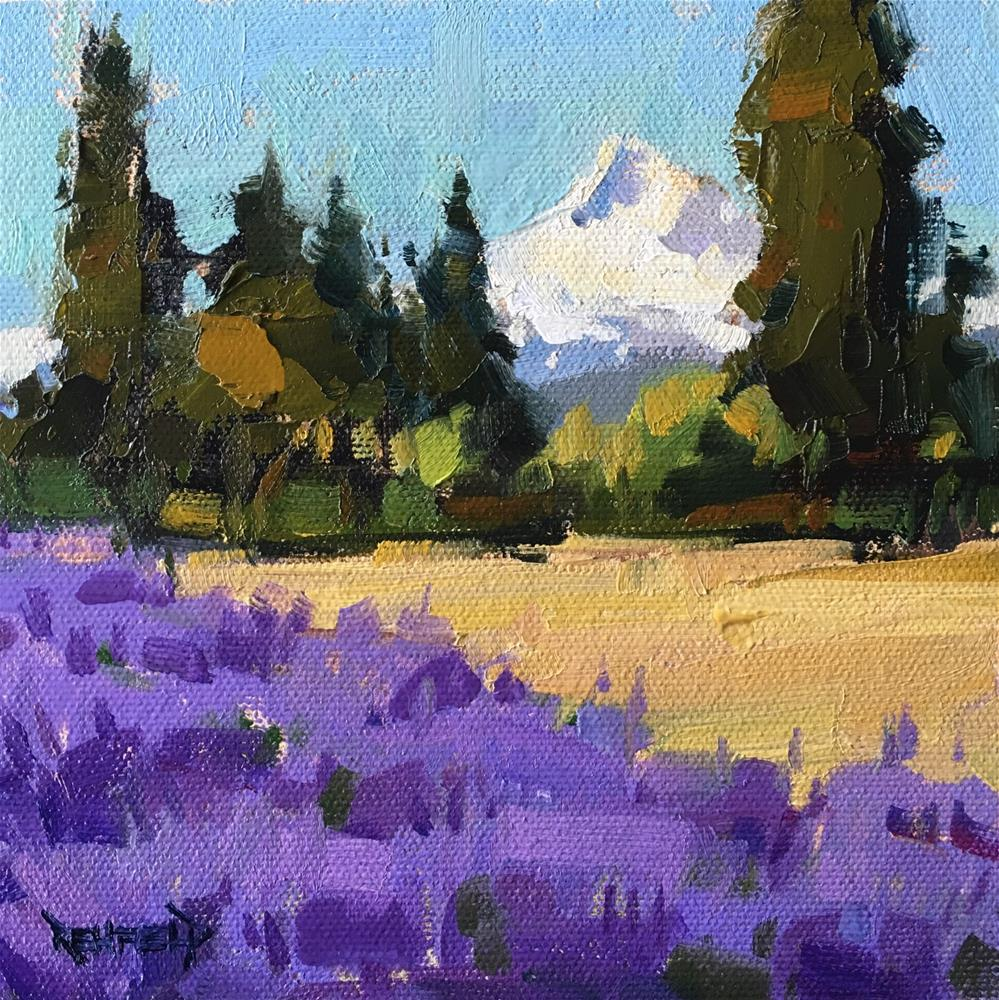 """Lavender Valley at Mt Hood"" original fine art by Cathleen Rehfeld"
