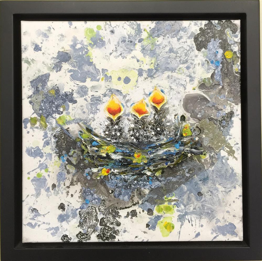"""""""BEAKS 2"""" original fine art by Sunny Avocado"""