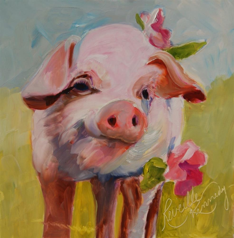 """Hollyhocks"" original fine art by Reveille Kennedy"