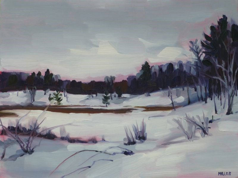 """Cranberry Bog"" original fine art by Jessica Miller"