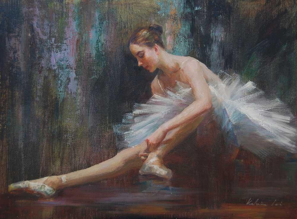 """Ballerina ( 05 )"" original fine art by Kelvin Lei"