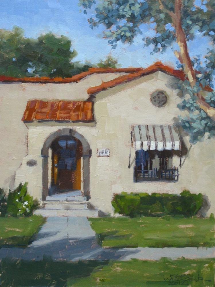 """""""Logan House, Tustin"""" original fine art by Karen Werner"""