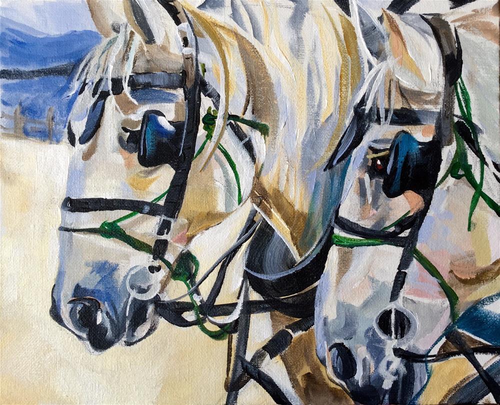 """Horsepower"" original fine art by Lauren Kuhn"