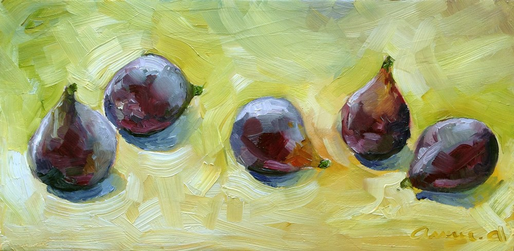 """Loose Figs..."" original fine art by Anne Ducrot"