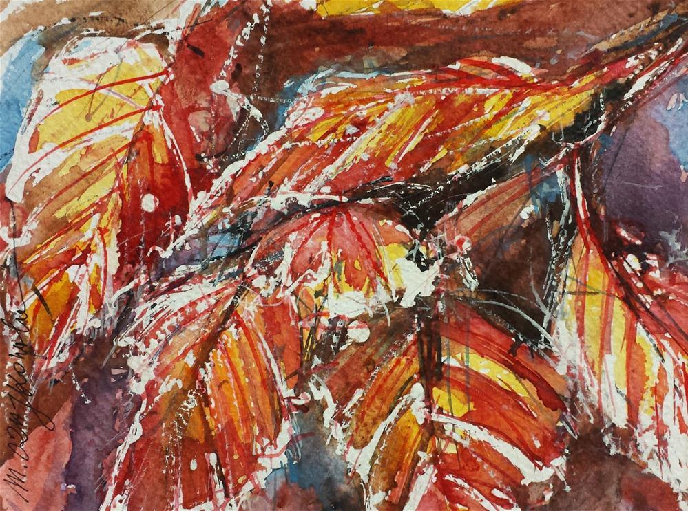"""""""Beech leaves"""" original fine art by Marlena Czajkowska"""