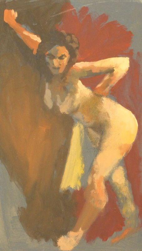 """Nude with attitude"" original fine art by Peter Orrock"