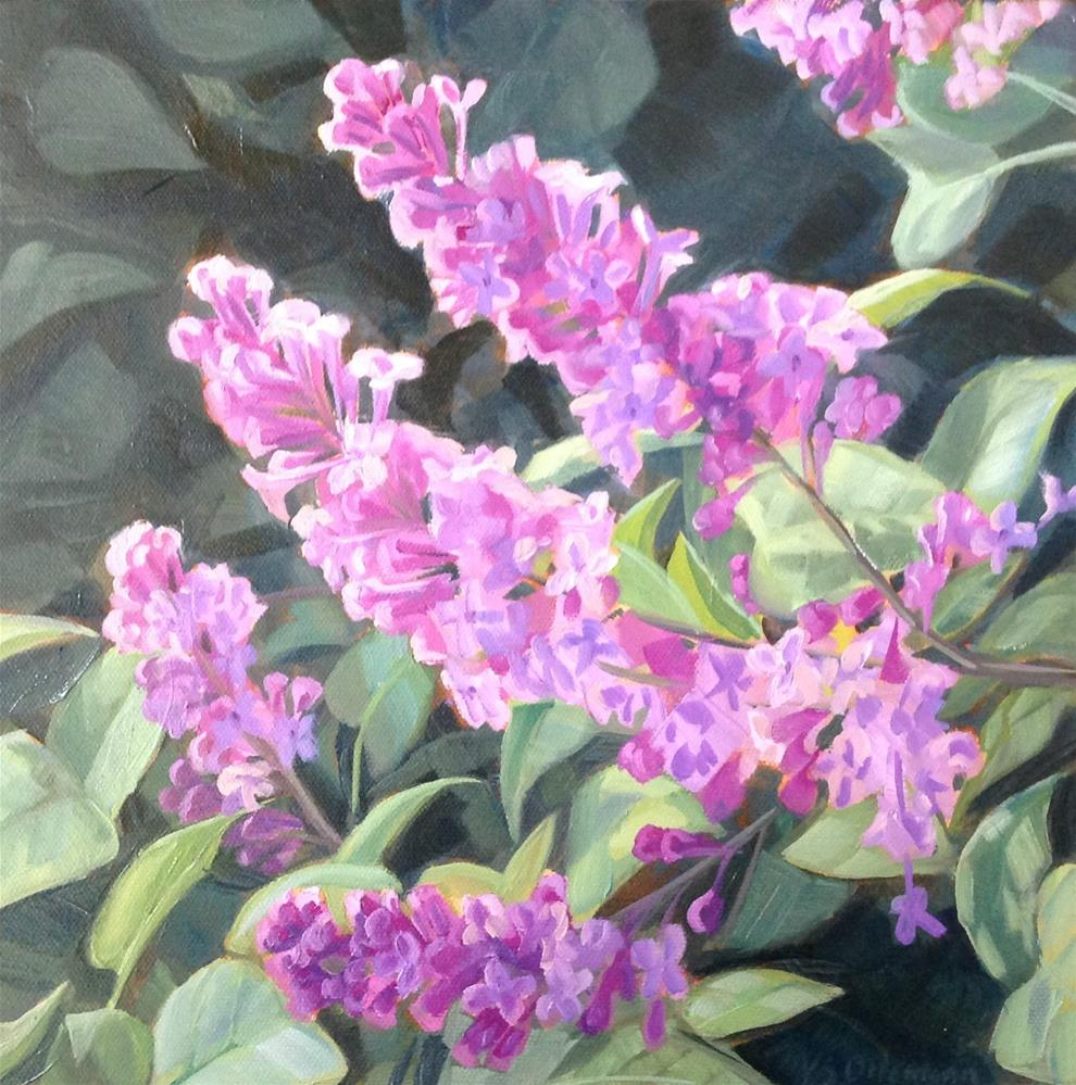 """""""Old Fashioned Lilacs"""" original fine art by Valerie Orlemann"""