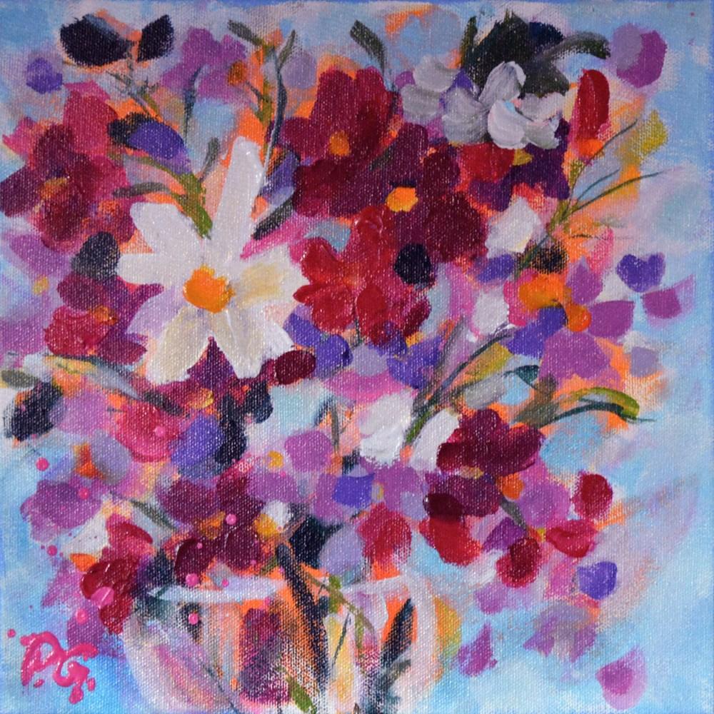 """""""Cosmos for Barbara"""" original fine art by Pamela Gatens"""