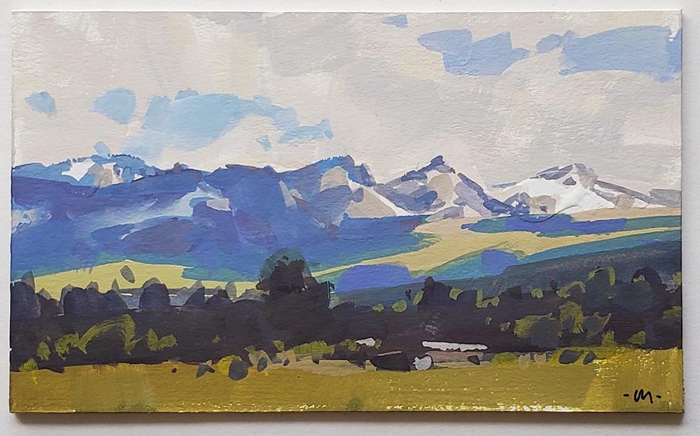 """""""Bitterroot Valley"""" original fine art by Carol Marine"""