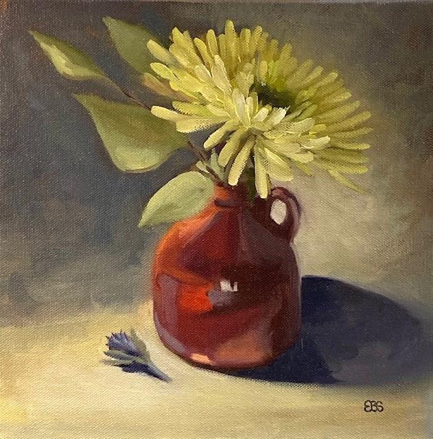 """Chrysanthemum"" original fine art by Elaine Brady Smith"