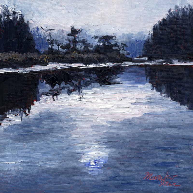 """Big River in Silence"" original fine art by Mariko Irie"