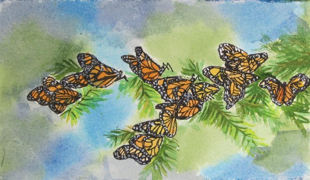 """Monarch #10"" original fine art by Christine Holzschuh"