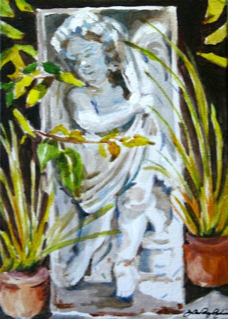 """Stoned in the Garden"" original fine art by JoAnne Perez Robinson"