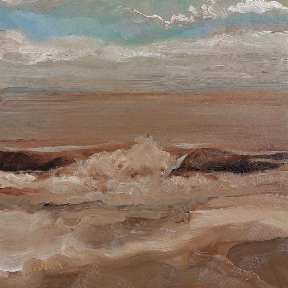 """Wave"" original fine art by Elaine Juska Joseph"