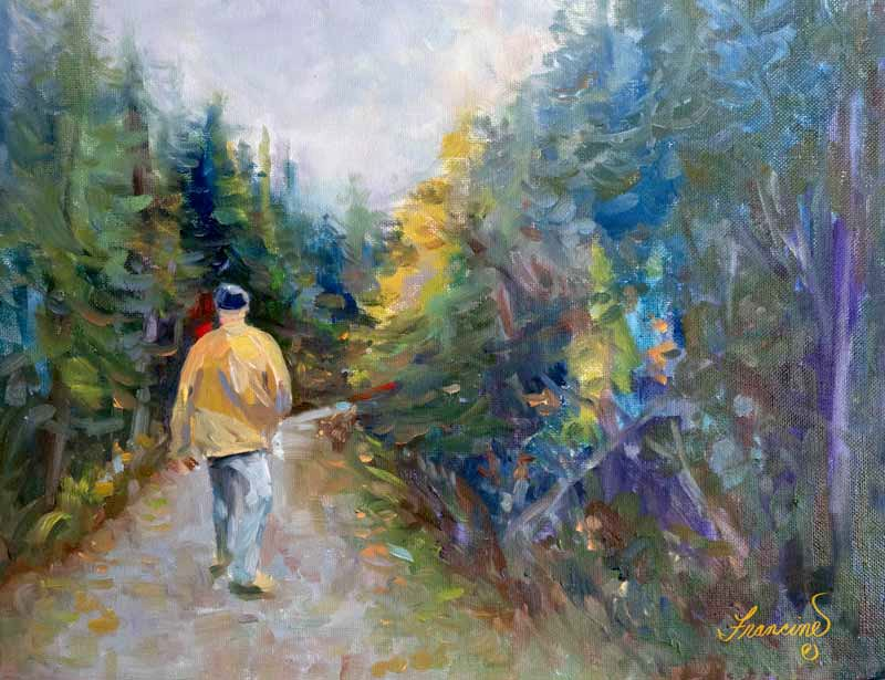 """The Walk"" original fine art by Francine Dufour~Jones"