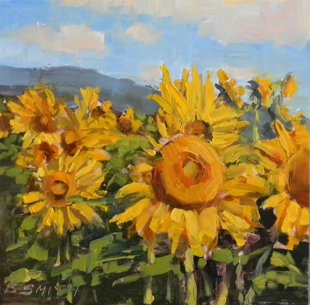 """Sunflowers on Parade"" original fine art by Barbie Smith"