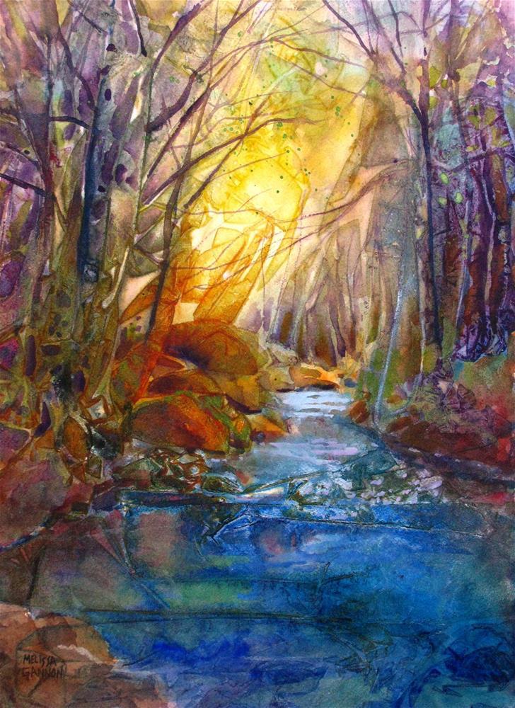 """River Wander"" original fine art by Melissa Gannon"